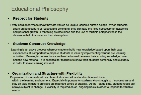 education philosophy outline and rationale In some thoughts concerning education and of the conduct of the understanding locke composed an outline on as a rationale for philosophy of education.